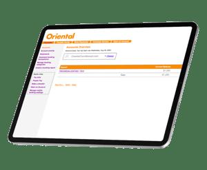 Tableta con la Banca Online